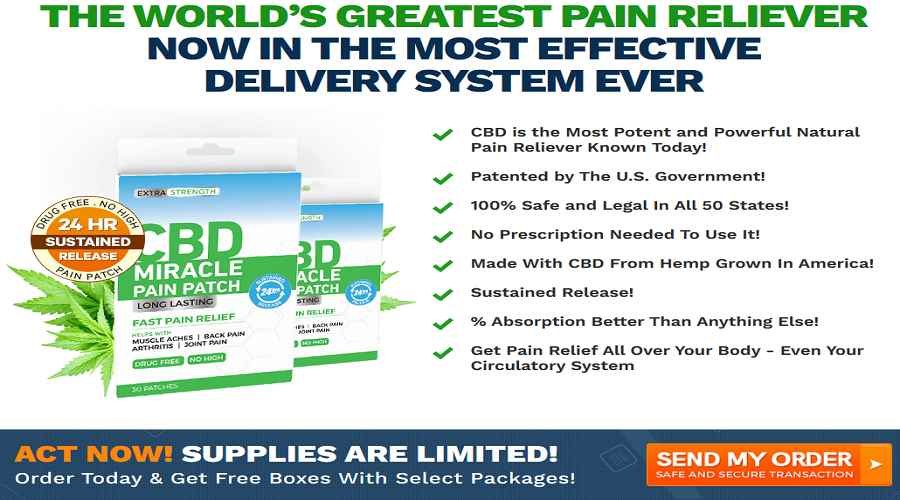 CBD Miracle Pain Patch Buy now