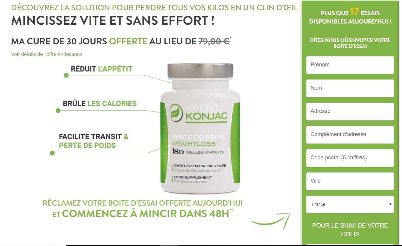 Pilules de perte de poids Xpert Konjac