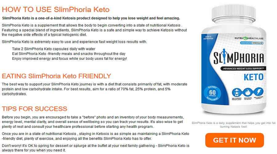 Slimphoria keto how to use