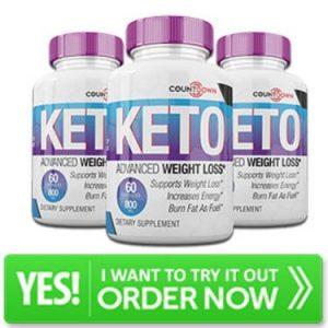 Count Down Keto bottle