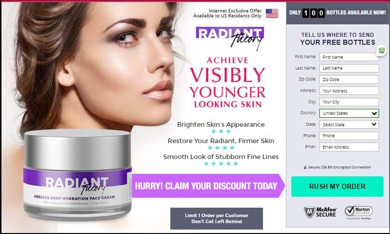 Radiant Theory skin cream buy now