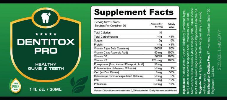 Dentitox Pro Facts