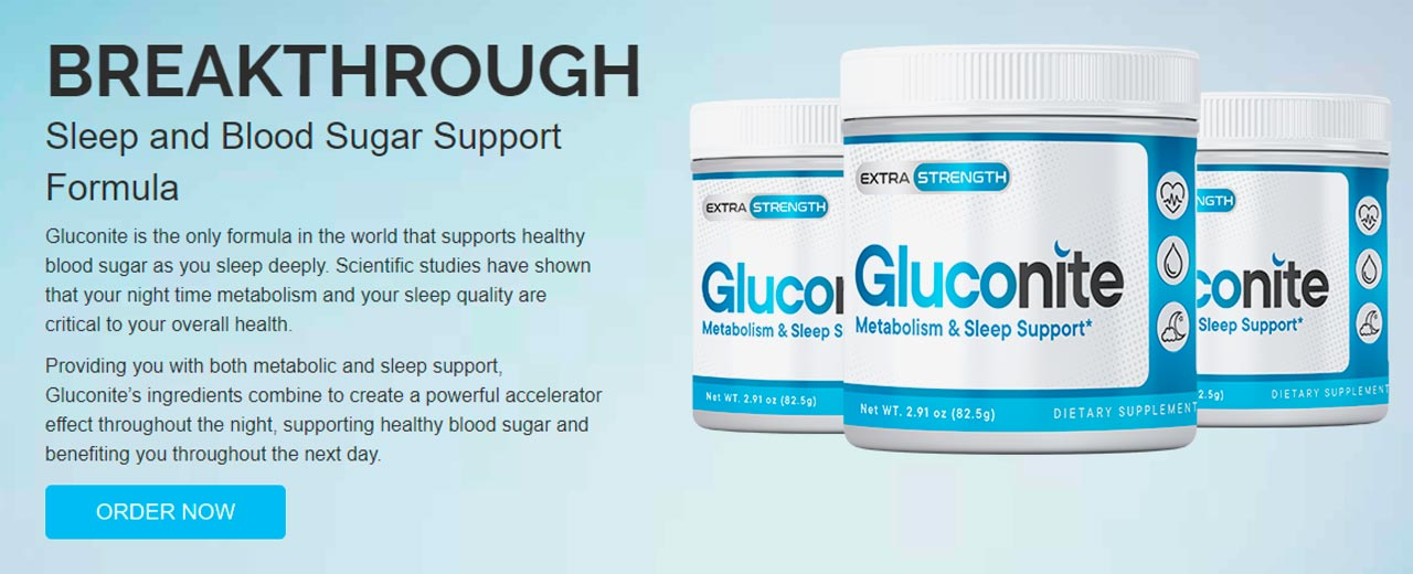 Gluconite Sleep and Blood Sugar Support Formula
