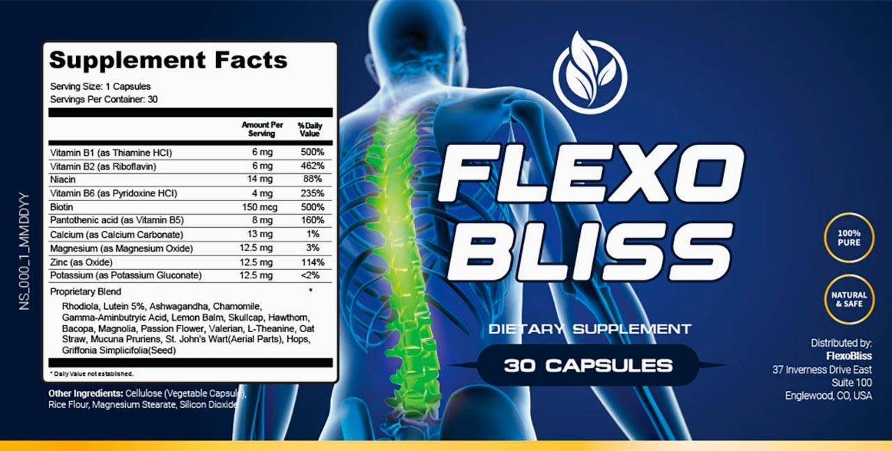 Flexo Bliss Supplement Facts